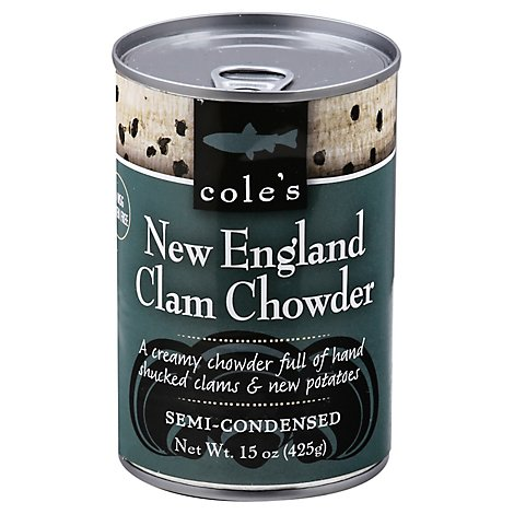 Coles Soup New England Clam Chow - 15 OZ