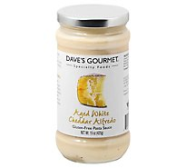Daves Gourmet Pasta Sauce Aged White Cheddar Alfredo - 15 Oz
