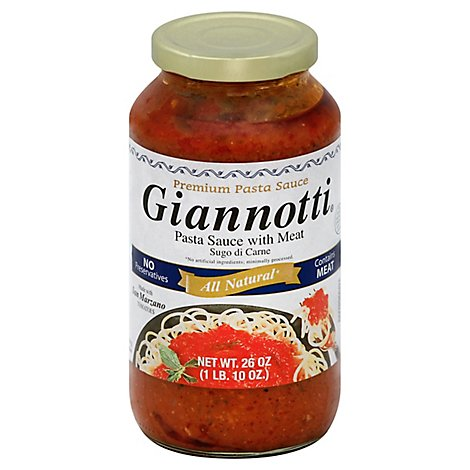 Giannotti Pasta Sauce With Meat All Natural - 26 Oz