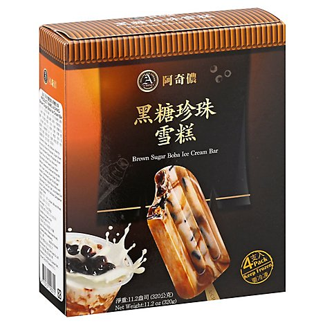 A Chino Boba Brown Sugar Ice Cream Bar - 4 CT
