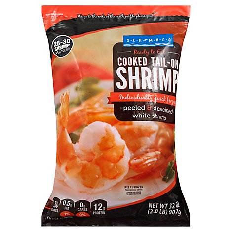 Seamazz Shrimp Cooked 26/30 Ct Tail/on Wild - 2 LB