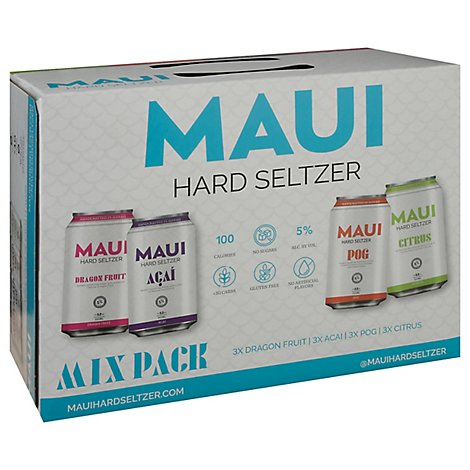 Maui Seltzer Variety In Cans - 12-12 FZ