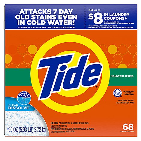 Tide Powder Ultra Moutain Spring 68-load - 95 OZ