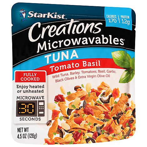 Starkist Tomato Basil Microwavable Tuna Creations - 4.5 OZ