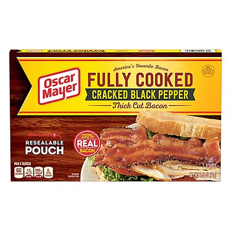 Oscar Mayer Bacon Crack Pepper Thick - 2.52 OZ