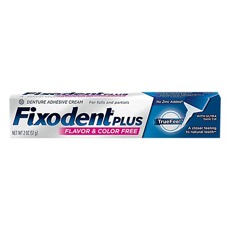 Fixodent Denture Adhesive Cream - 2 OZ