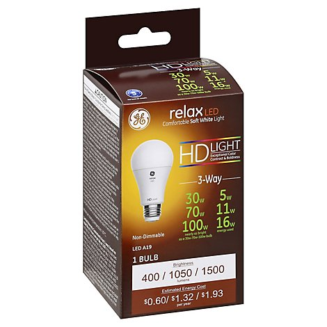 Ge Led Relax 3way 30/70/100w Eqv 1ct - EA