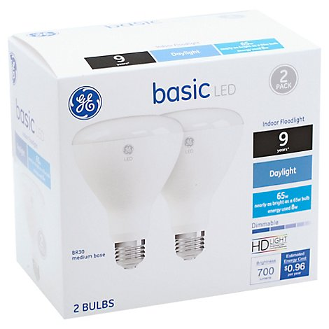 Ge Led Basic R30 65w Eq Daylight 2ct - 2 CT