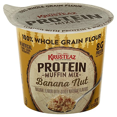 Krusteaz Protein Banana Nut Muffin Cup - 2.3 OZ
