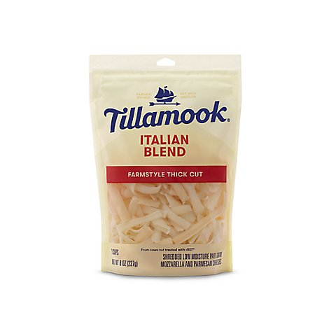 Tillamook Farmstyle Thick Cut Italian Blend Shredded Cheese - 8 OZ