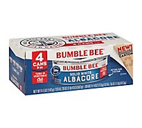 Bumbmle Bee Solid White Albacore Tuna In Oil Can - 4-5 OZ