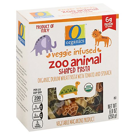 O Organics Pasta Veggie Zoo Animal - 8.8 OZ