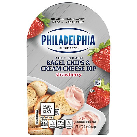 Philadelphia Bagel Chips Strawberry Cream Cheese Dip - 2.5 OZ