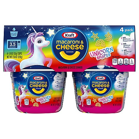 Krafteasy Mac Unicorn Shapes 4pk Cups - 4-1.9 OZ