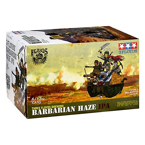 Three Floyd's Barbarian Haze In Cans - 6-12 FZ