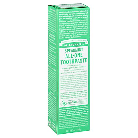 Dr Bronner Toothpaste Spearmint - 5 OZ