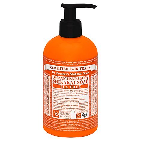Dr Bronner Pump Soap Sugar Ttree Org - 12 OZ