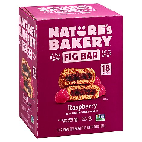 Natures Bakery Fig Bar Raspberry 18ct - 18-2 OZ
