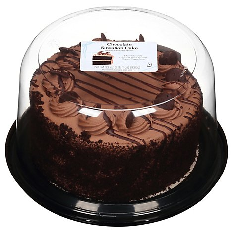 Chocolate Sinsation Cake Double Layer 7 Inch - 33 OZ