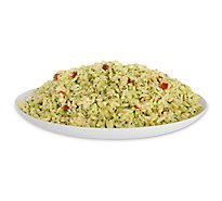 Broccoli Feta Orzo Salad With Red Pepper