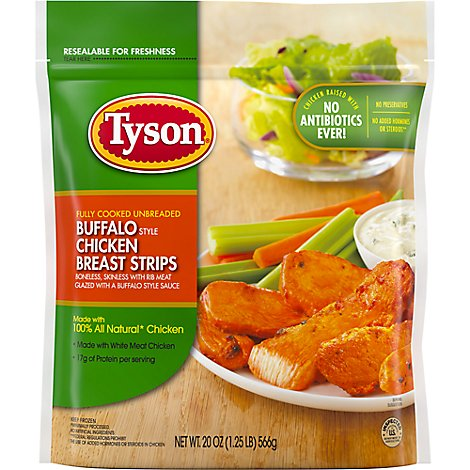 Tyson Grilled & Ready Chicken Breast Strips Buffalo Style Fully Cooked - 20 OZ