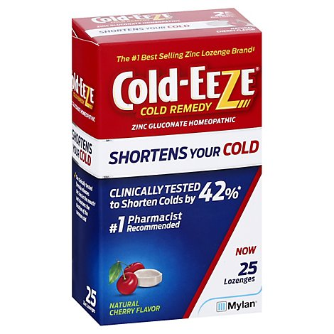 Cold Ezee Lozenges Cherry - 25 CT