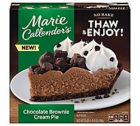 Marie Callenders Chocolate Brownie Cream Pie Thaw And Serve Frozen - 25 OZ