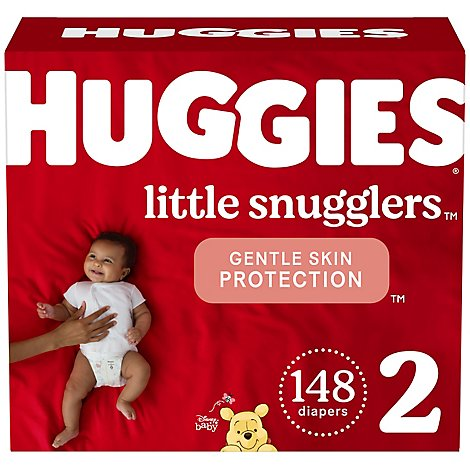 Huggies Little Snugglers Diapers Size 2 Huge Pack 148 - 148 CT