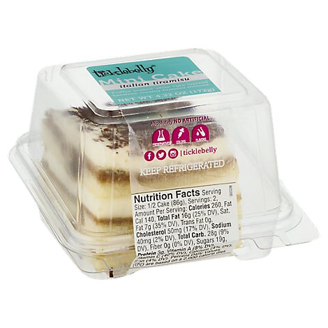 Ticklebelly Italian Tiramisu Mini Cake - 6.1 OZ