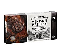 Force Of Nature Venison & Wagyu Beef Grass Fed Patties - 16 OZ