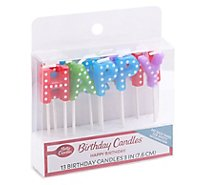 Bc Happy Bday Rnbw Candle Ea - 13 CT