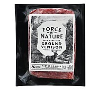 Force Of Nature Ground Venison With Beef Grass Fed Brick - 14 OZ