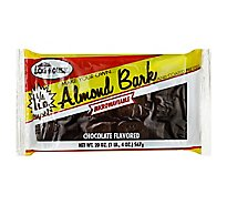 Log House Almond Bark Choc - 24 OZ