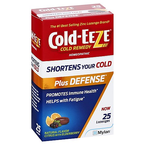 Cold Eeze Plus Defense Citrus W Elderberry Lozenge - 25 CT