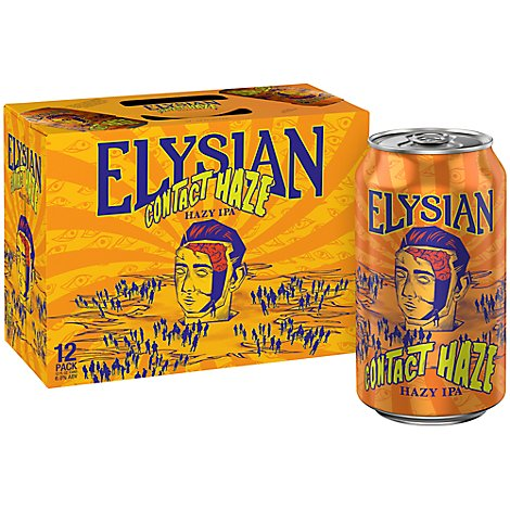 Elysian Contact Haze Hazy Ipa In Cans - 12-12 FZ