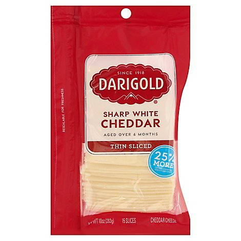 Darigold Cheddar Cheese Natural Sharp Slices - 10 OZ