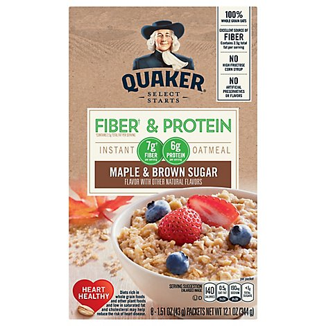Quaker Instant Oatmeal Weight Control Maple Brown Sugar - 12.6 OZ