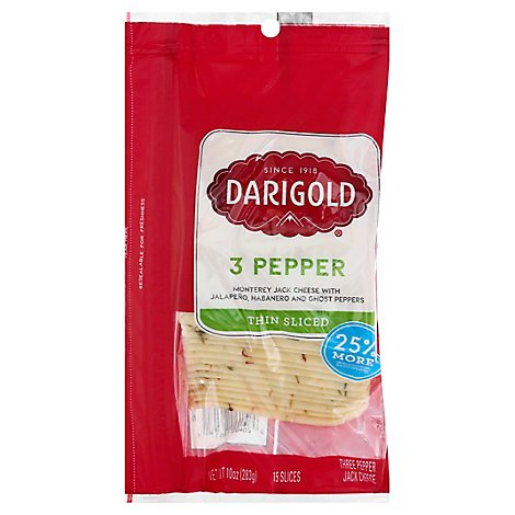 Darigold Pepper Jack Cheese Slices - 10 OZ