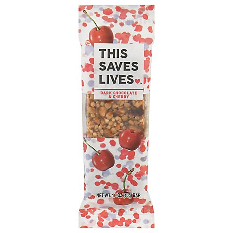 This Saves Lives Drk Choc Grnla Bar Chry - 1.4 OZ