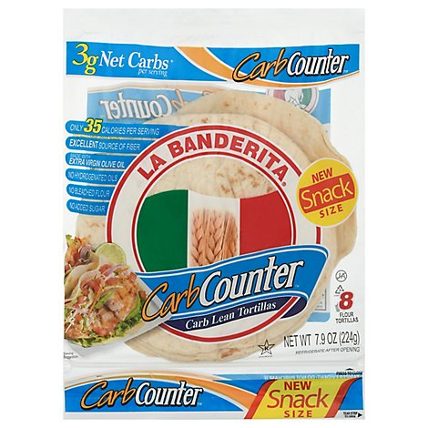 La Banderita Carb Counter Tortillas 8 Count - 7.84 OZ