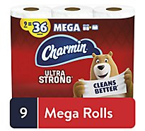 Charmin Ultra Strong Bathroom Tissue Mega Roll 264 Sheets Per Roll - 9 Roll
