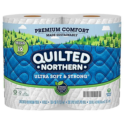 Quilted Northern Ultra Soft & Strong Bath Tissue 4 Mega Rolls - 4 CT