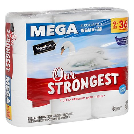 Signature Select Bath Tissue Our Strongest Mega - 9 RL
