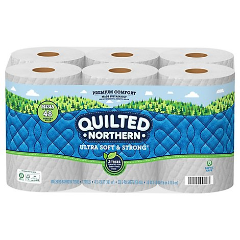 Quilted Northern Ultra Soft And Strong Toilet Paper 12 Mega Roll - 12 RL