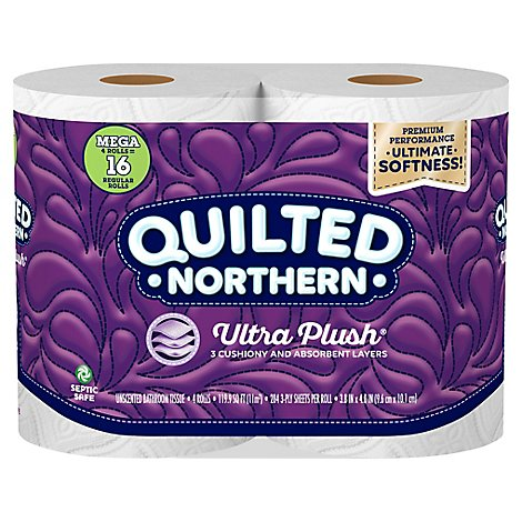 Quilted Northern Ultra Plush Toilet Paper 4 Mega Rolls - 4 CT