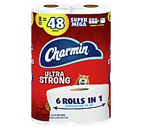 Charmin Ultra Strong Toilet Tissue 8 Super Mega Roll - 8 RL