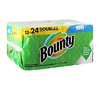 Bounty Select A Size White Paper Towels 12 Double Roll - 12 RL