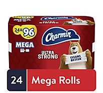 Charmin Ultra Strong Toilet Tissue Dry Unscented 24 Mega Roll - 24 RL