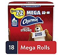 Charmin Toilet Tissue Ultra Strong Mega Roll - 18 Count