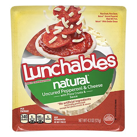Lunchables Natural Uncured Pepperoni Pizza - 4.3 OZ